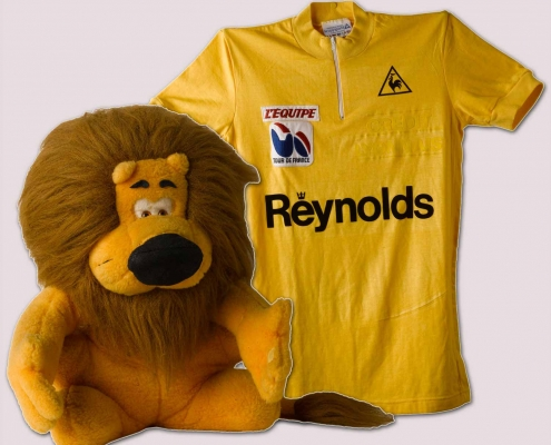 Mallot y León Amarillos de Perico Delgado de la última etapa del Tour de Francia de 1988